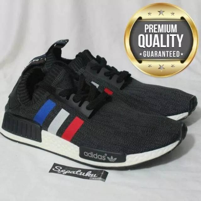 dd04fad7a Sepatu Adidas NMD R2 Primeknit White Core Red - Premium Quality ...
