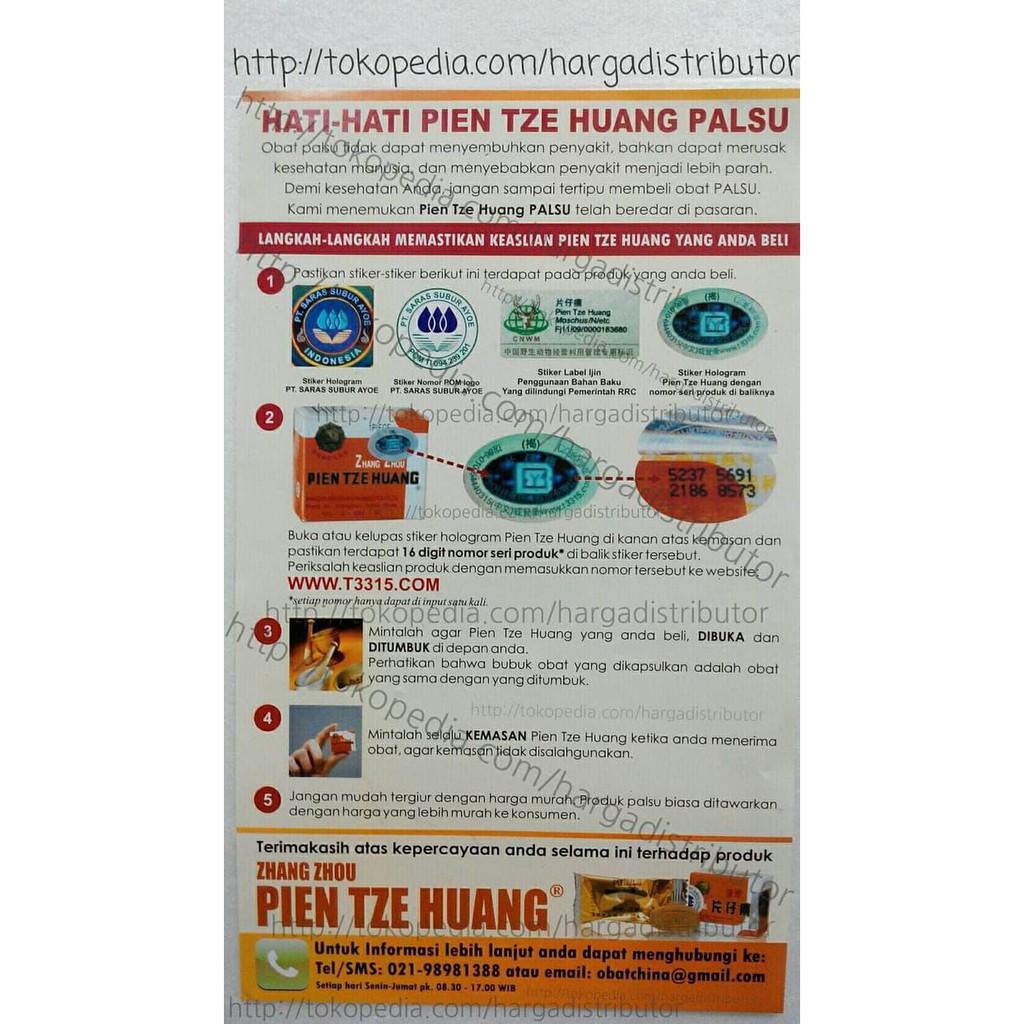 Pien Tze Huang Obat Pasca Operasi Obat Hati Obat Radang Dll | Shopee Indonesia