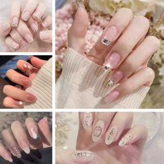Kuku Palsu Dengan Hiasan Berlian Imitasi Untuk Nail Art Z thumbnail