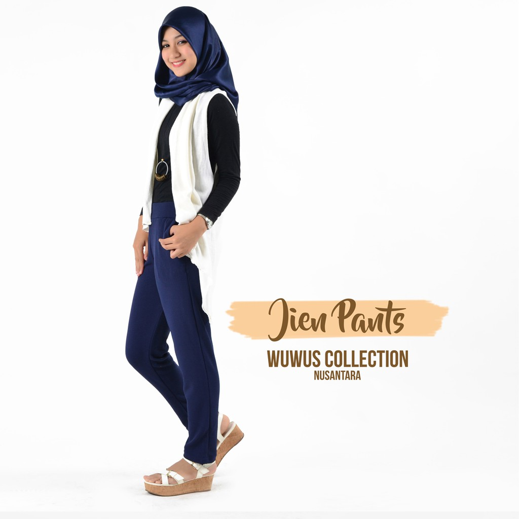 Luna Pants Bahan Milano Shopee Indonesia Nagita Zara List Side Stripe Hitam Merah Scuba