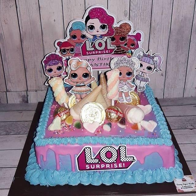 Kue Ulang Tahun Karakter Anak Lol Surprise