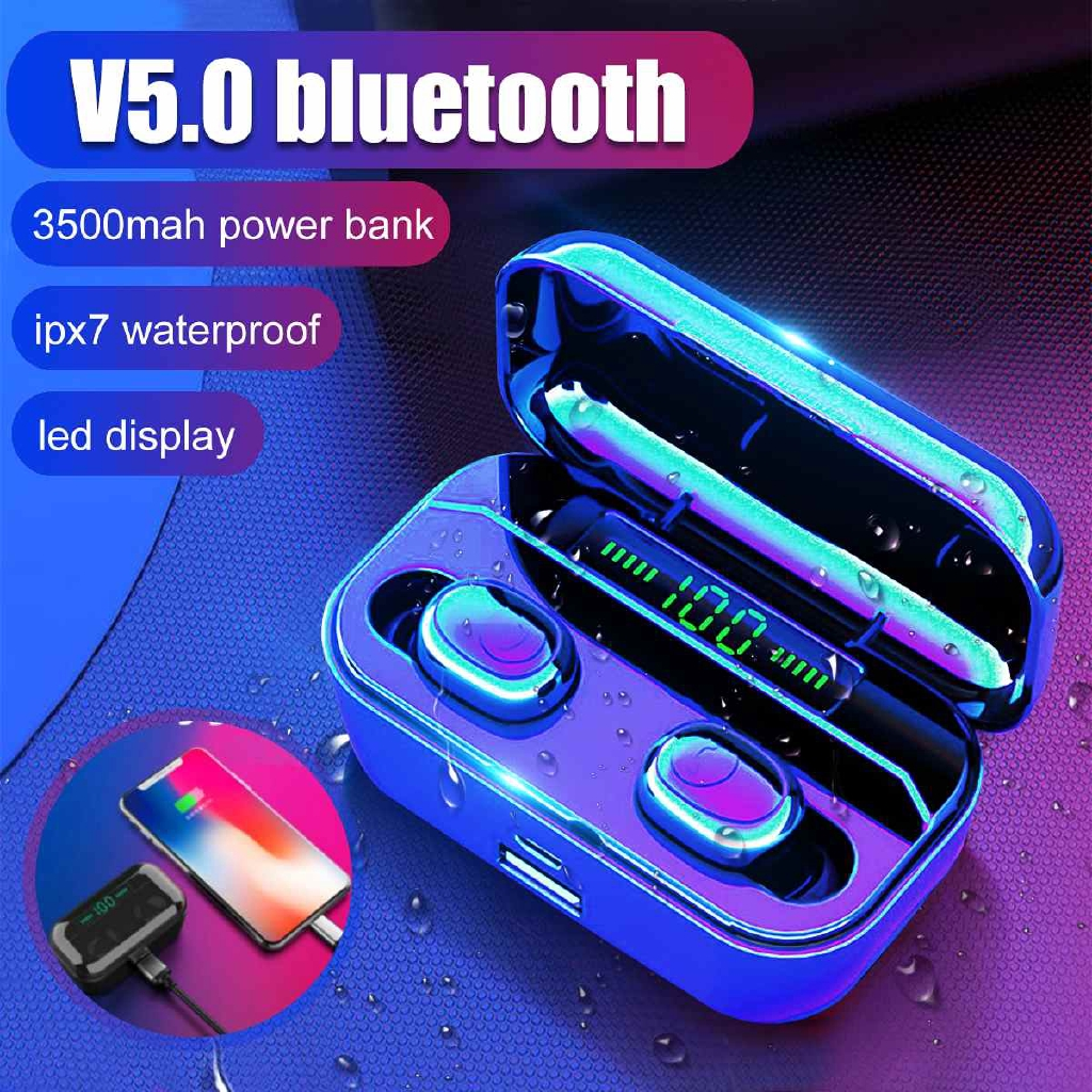 5 0 Earphones G6s Led Display Tws Wireless Stereo Earbud Ipx7 Waterproof Sports Headset With Shopee Indonesia