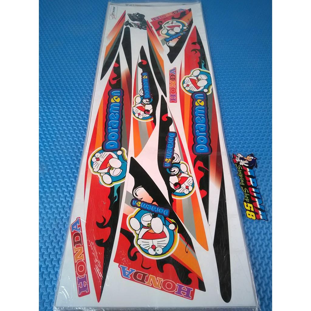 Striping sticker lis motor variasi honda vario 110 cw vario lama doraemon shopee indonesia