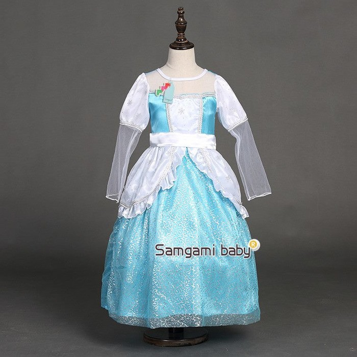 REAL PICTURE NO EDIT Kostum Elsa Frozen Dress Baju Pesta Import Gaun LestariiAbadi | Shopee Indonesia