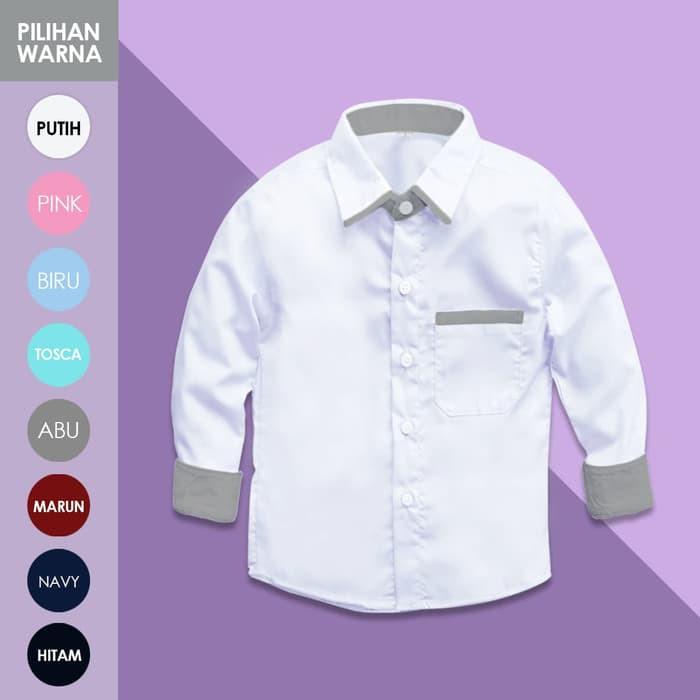 Kemeja Anak Putih Polos Lengan Panjang Kidshirt Baju 1 8 Tahun Kp418 Shopee Indonesia