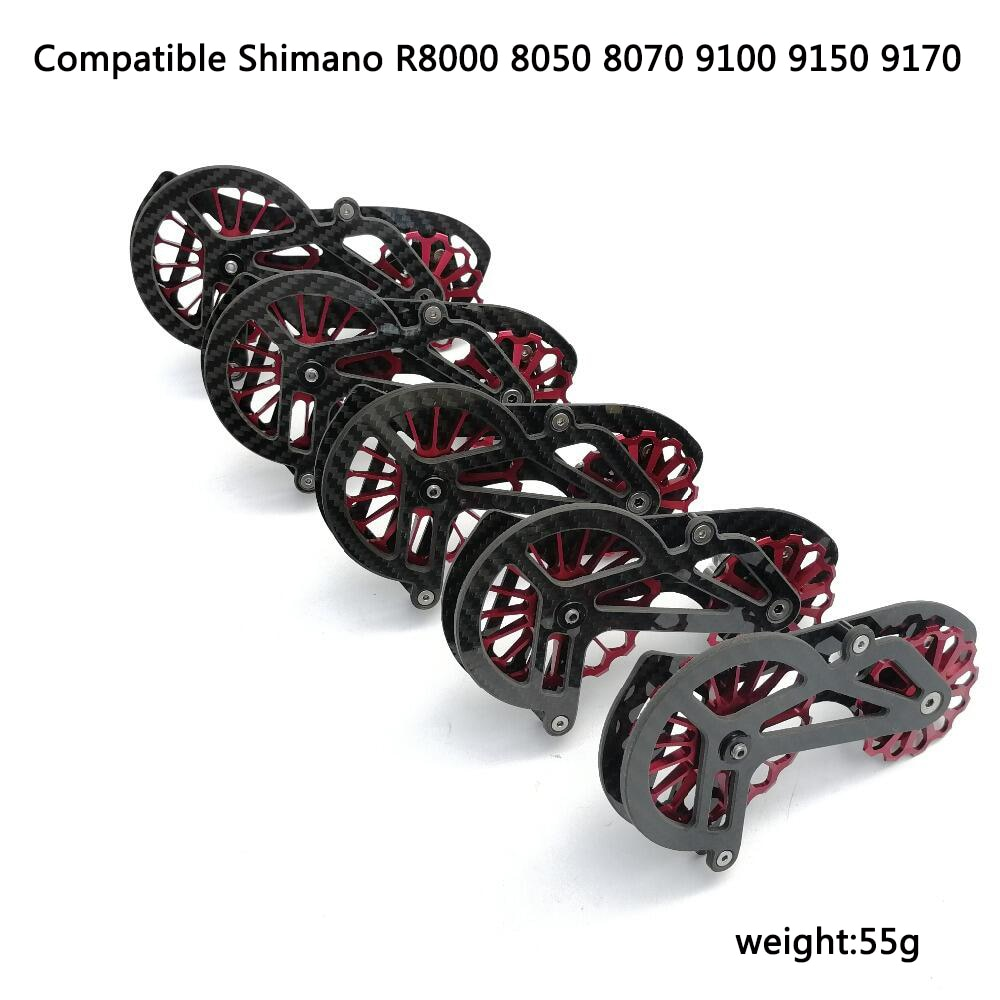 Deraillur Pulley 17T Bike Carbon keramik kecepatan Belakang Derailleur Pulley OSPW  shimano R9100 R8