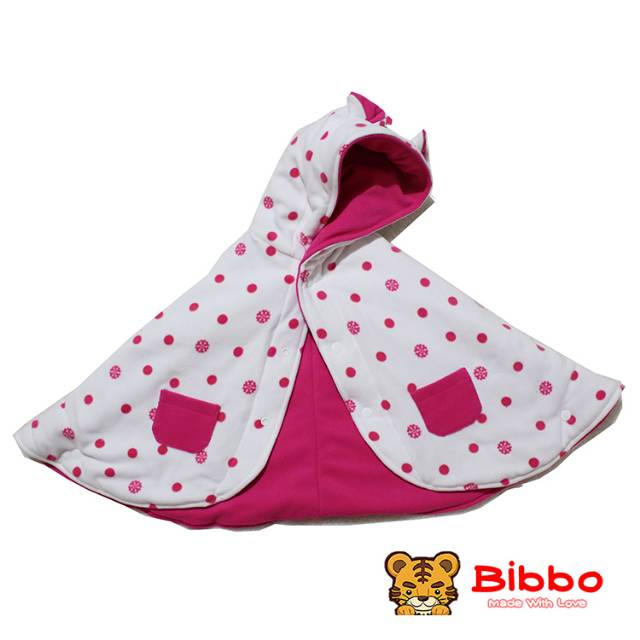 Babycape Bibbo - Dot White - Jaket Bayi Selimut Bayi Multifungsi
