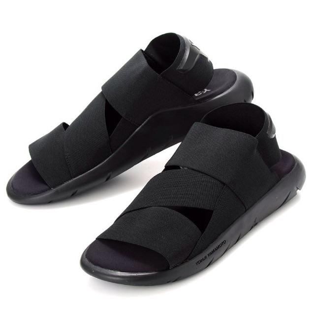 30da893bfd259 Sepatu Sandal Pria ADIDAS Y3 YOHJI YAMAMOTO QASA TRIPLE BLACK PREMIUM BNIB