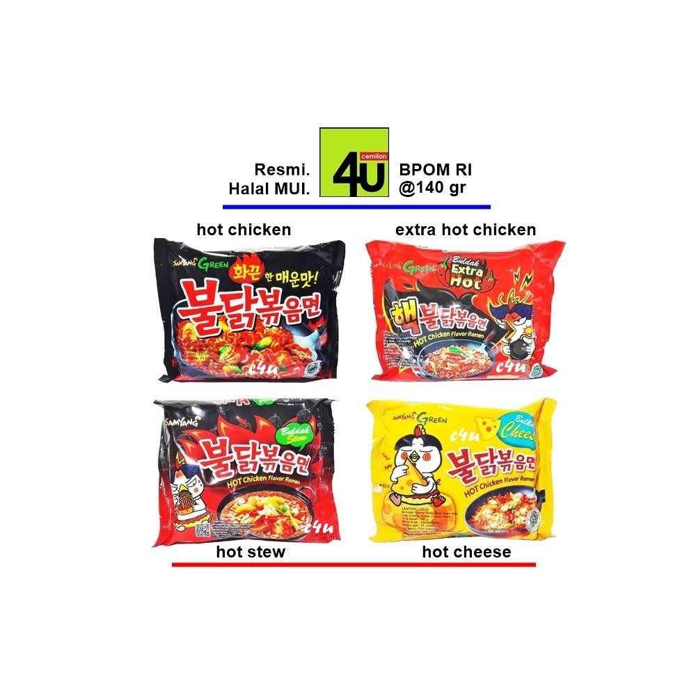 Samyang Label Halal Mui Korean Cheese Spicy Hot Chicken Ramen Buldak Dapat 3 Chese 140 Gr 1 Pc Shopee Indonesia