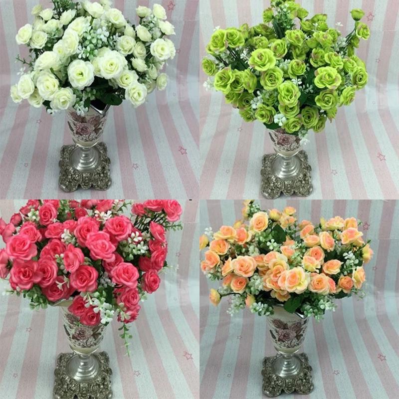 1 Buket 5 Tangkai 15 Bunga Satin Kepala Bunga Mawar Tiruan Dekorasi Tiruan Untuk Pernikahan Shopee Indonesia