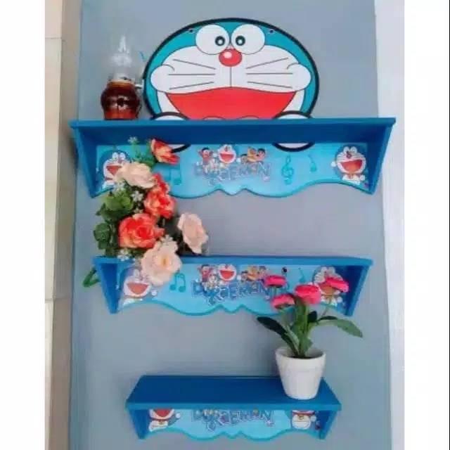 Rak Dinding Susun Doraemon Rak Hiasan Dinding Doraemon Rak Dinding Vintage Doremon Shopee Indonesia