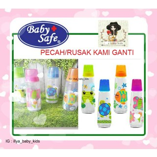 Botol susu baby safe feeding bottle motif animal 250ml JS002 & JS001