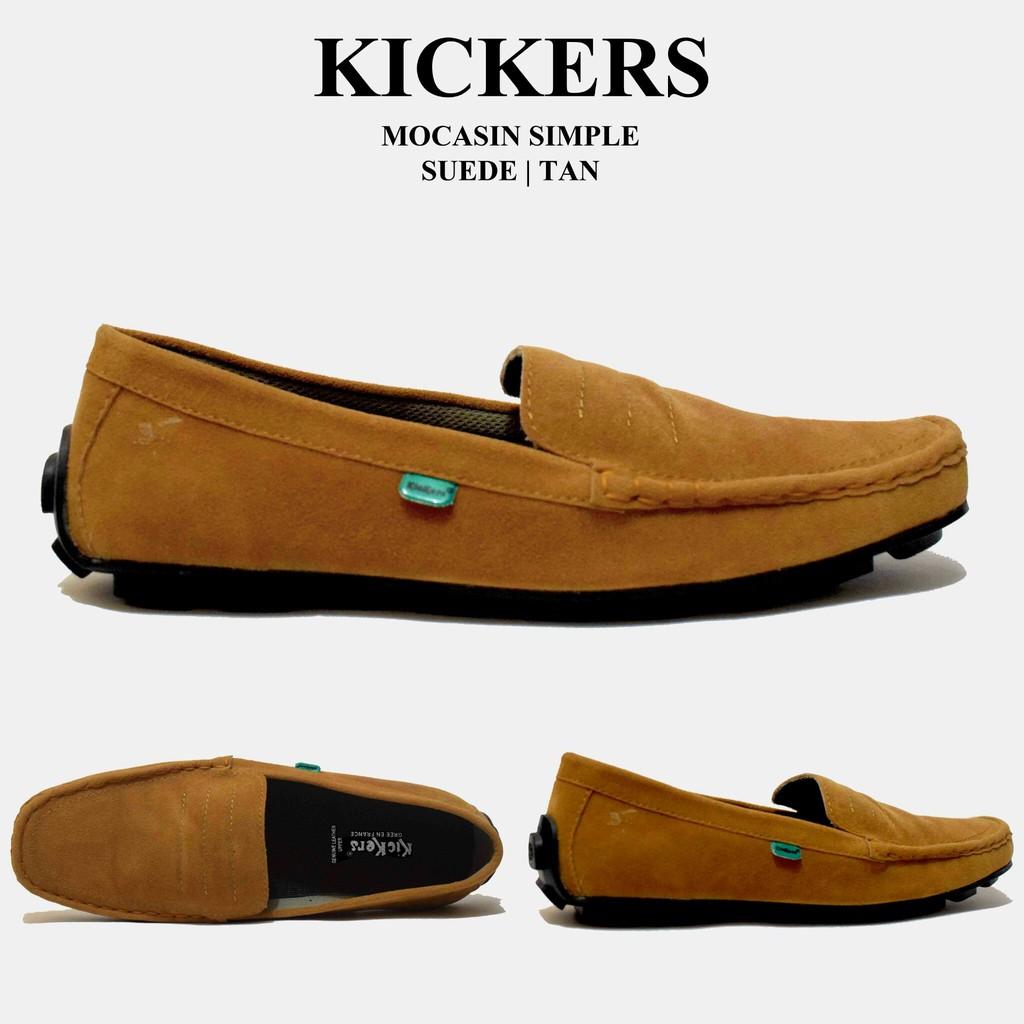 Sepatu Slip On   Sepatu Slop   Sepatu Casual Pria   Sepatu Kickers Simple  Navy Murah  4523738115