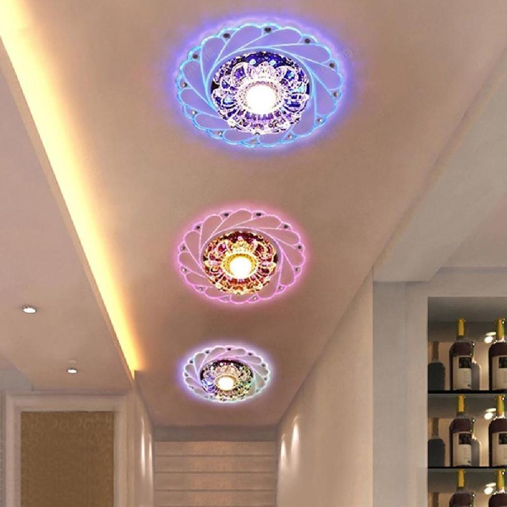 Modern Crystal Led Ceiling Light Fixture Aisle Hallway Pendant Lamp Chandelier Shopee Indonesia