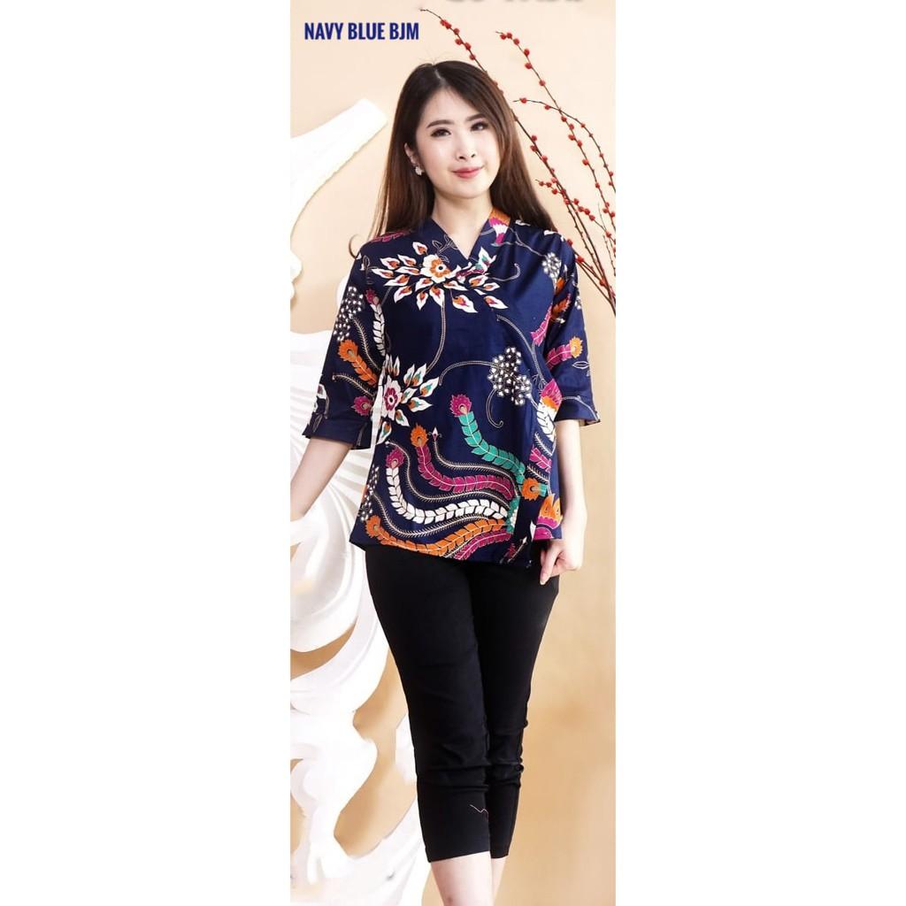 Atasan Batik Modern / Blouse Batik Model Kimono Lengan 11/11 / Atasan Batik  Modern Jumbo