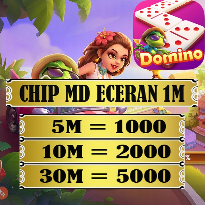 Koin Chip MD ECERAN 1M Higgs Domino Island murah