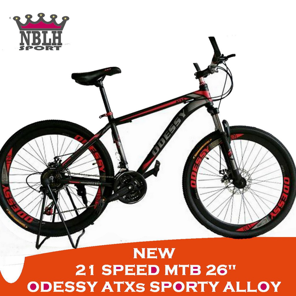 Odessy Atxs 500 560 Sporty Alloy 26 New 21 Speed Mtb Sepeda Gunung Pedal Neco Wp 625 Alumunium Shopee Indonesia