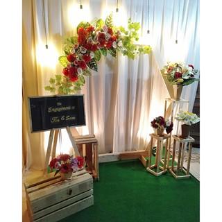dekorasi pernikahan jawa tunangan rustic murah jogja
