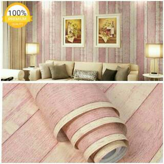 grosir murah wallpaper stiker dinding motif kayu garis