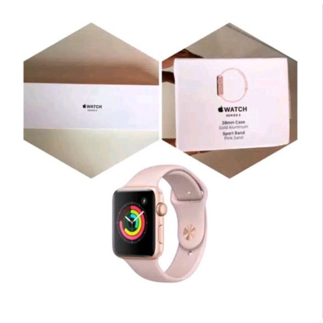 Apple Watch Series 3 Gps 38mm Rose Gold Shopee Indonesia