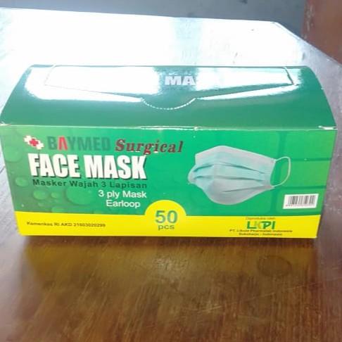 Masker 1pack isi 50 Baymed Face Mask 3 ply