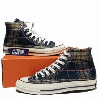 3aeb5eb65729 Sepatu Converse All Star Chuck Taylor 70s Hi Teracotta Plaid Flanel Blue  Navy 37- 43 Ua Mirror BNIB
