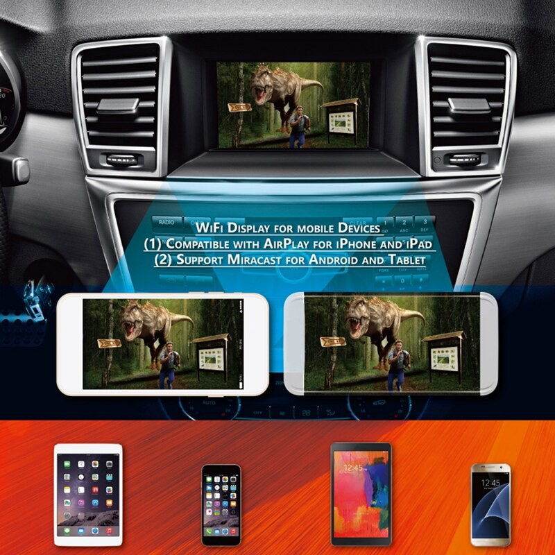 CAR Audio//Video Display Miracast Airplay Box for Android IOS iPhone 6 6s 7 Plus