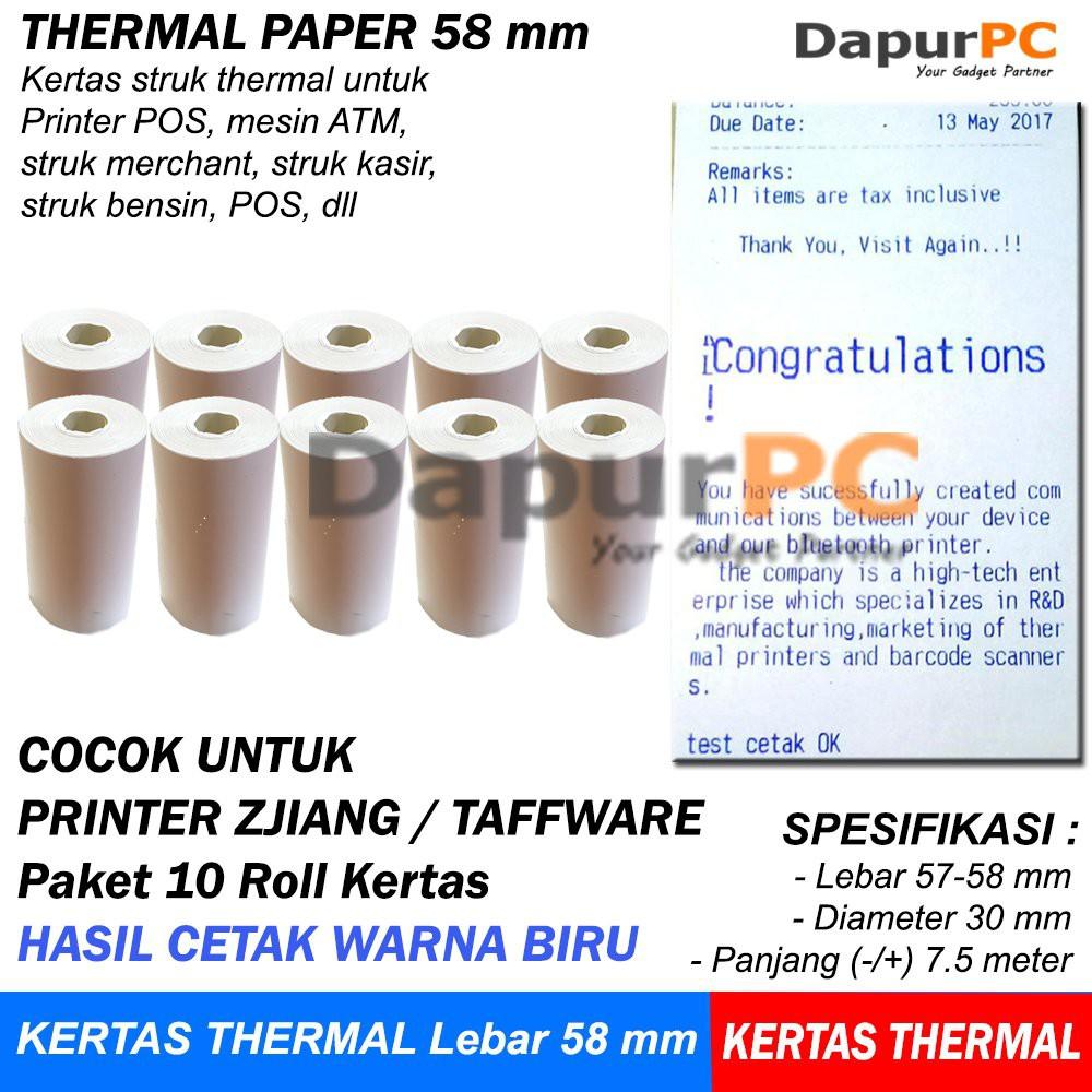 Kertas Thermal Paper 57 x 30 mm Struk Kasir POS 58mm - 10 Buah | Shopee Indonesia