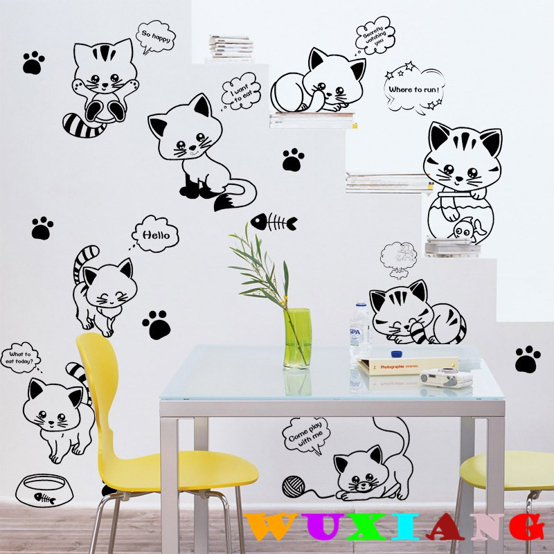 【wuxiang】Black Building Wall Stickers Eco-friendly PVC Transparent City Silhouette Wallpaper AY925 | Shopee Indonesia