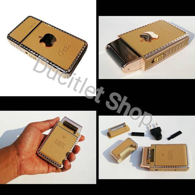Shaver / Alat Cukur Kumis jenggot EBOLI Apple iphone electric razor cukuran bulu rechargeable gold  