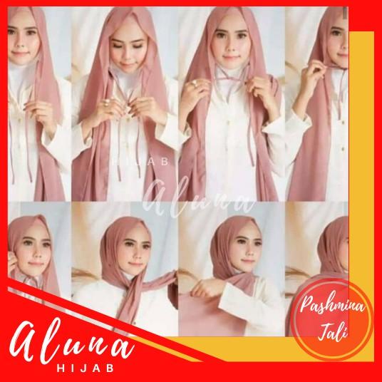 Pashmina Tali Turkish Diamond By Aluna Hijab Shopee Indonesia