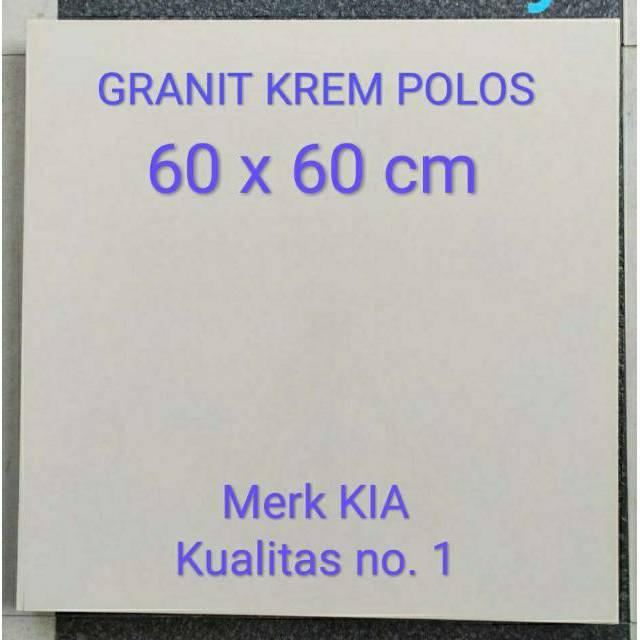 Distributor Granit lantai murah surabaya pare kediri krem polos 60 x 60 Happy house ceranosa keraton