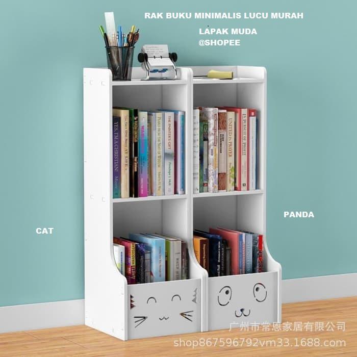 rak buku portable 3 sisi