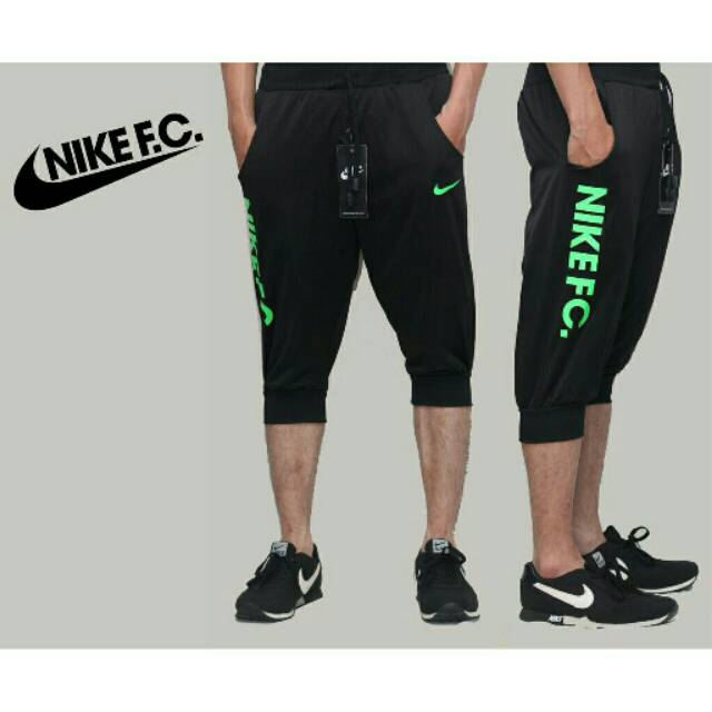 Celana Training Sport Jogger 3 4 Nike Hitam Celana Olahraga Pria Wanita Lari Running Gym Joger Pants Shopee Indonesia