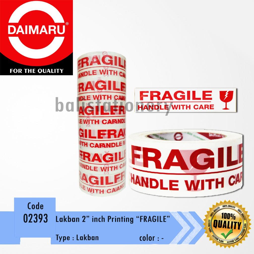 Dapatkan Harga Lakban Printing Diskon Shopee Indonesia Fragile Daimaru 2x100mtr