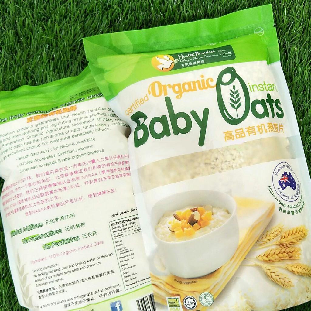 Organic Instant Baby Oat 500g Shopee Indonesia Energen Oatmilk Mixbry10scx24g