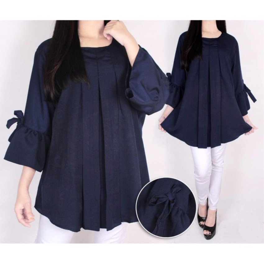 atasan baju wanita/blus kalong wanita casual/baju hangout wanita /blus turtle | Shopee Indonesia