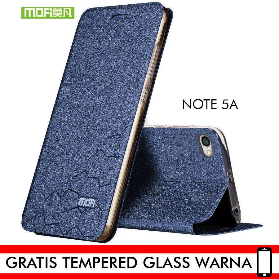 MOFI Xiaomi Redmi Note 5A Prime Case MOFI Luxury Leather Flip Case ORI   Shopee Indonesia