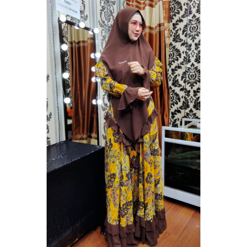 DRESS MONSTERA BY YODIZEIN ORY/GAMIS SYAR'I