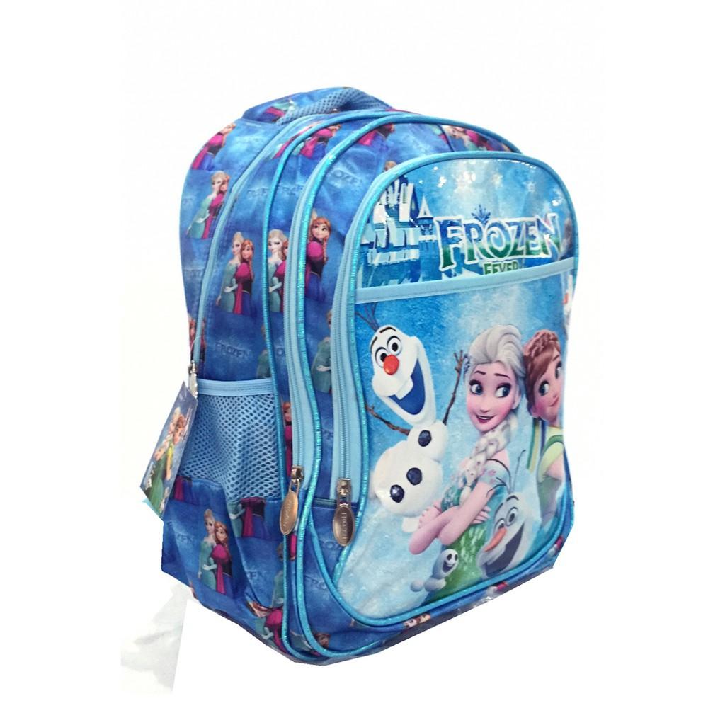 Promo Tas Ransel Sekolah Anak Frozen Fever Blue Motif 4 Kantung Troli 6d In 1 0280 Import Murah Shopee Indonesia