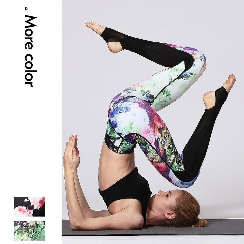 Celana Legging Panjang Wanita Motif Abstrak Untuk Yoga Shopee Indonesia