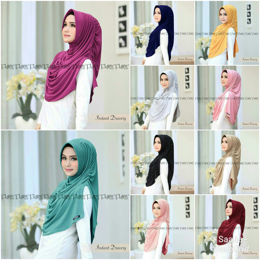 Instan Dravery Khimar Jumbo Grosir Jilbab Hijab Modern HIjabIndonesia