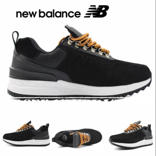 BNWB Sepatu New Balance Trailbuster Black Navy Shoes Casual Sneakers ... 42eedddf8b