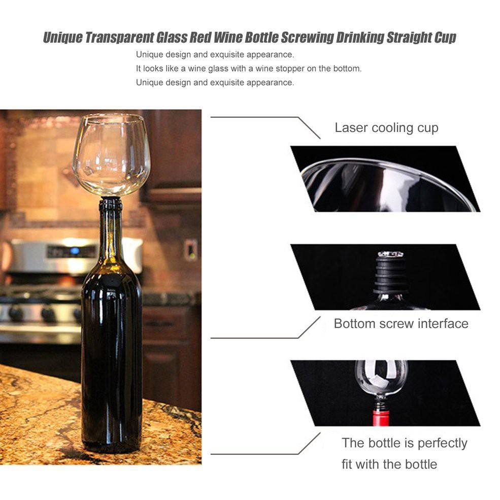 Botol Minuman dengan Model Lurus dan Bahan Kaca Warna Merah Transparan