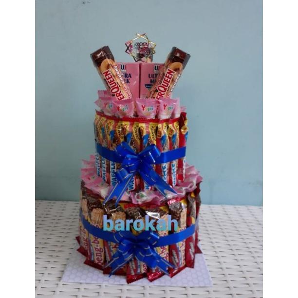 kue ulang tahun / kue ultah snack/ Graduation Snack/Snack Tower