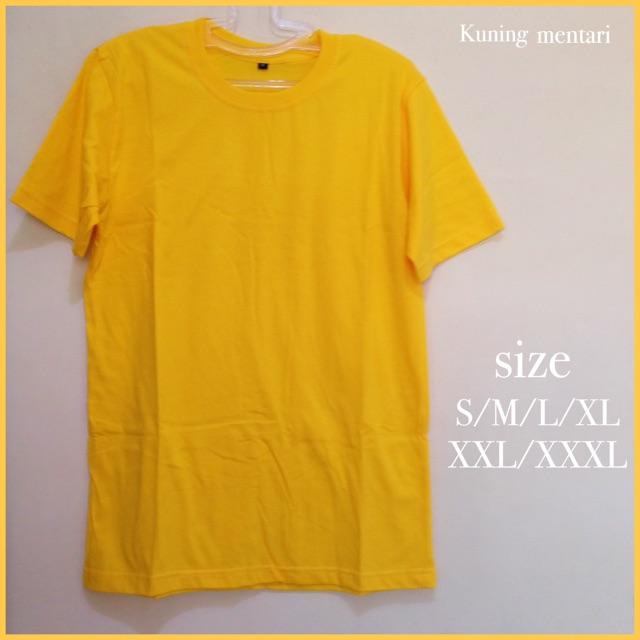 Baju Polos Dewasa Model Kaos Distro Pria Wanita Lengan Pendek Cotton Combed 30s Size S M L Xl Xxl Shopee Indonesia