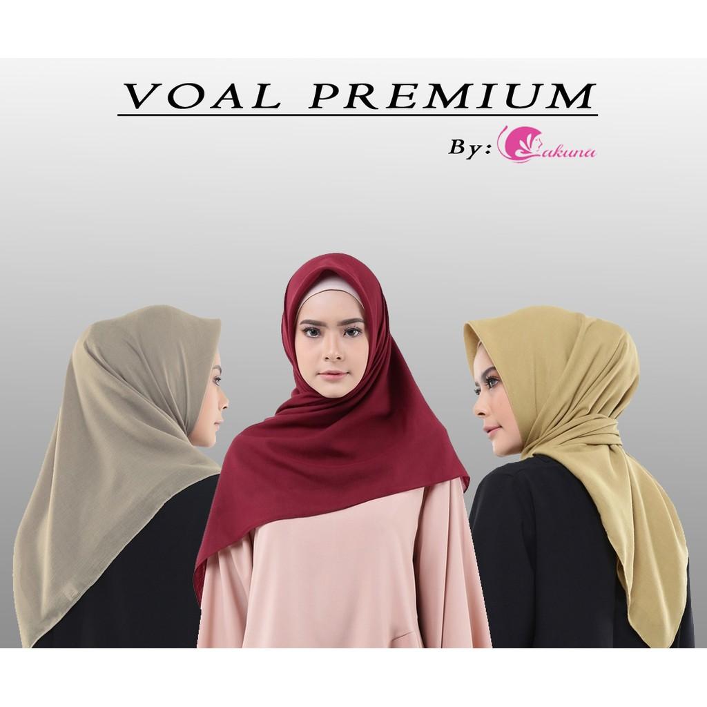 Voal Polos Basic Voal Voal Premium Hijab Segiempat Jilbab Murah Besic Voal Voal Clasic Shopee Indonesia