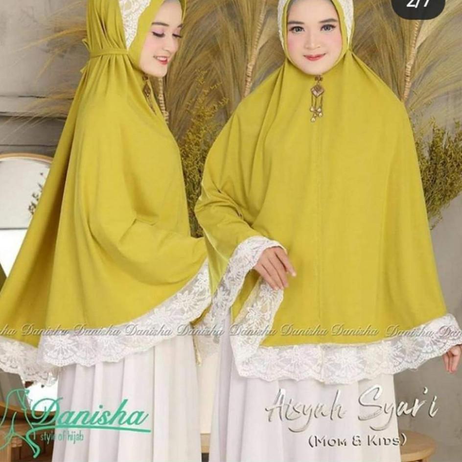 Hijab Bergo Renda Aisyahnia Syar I Tali Belakang B3 Shopee Indonesia