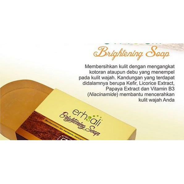 Erhsali Brightening Soap Original Nasa Membersihkan dan Mencerahkan Wajah | Shopee Indonesia