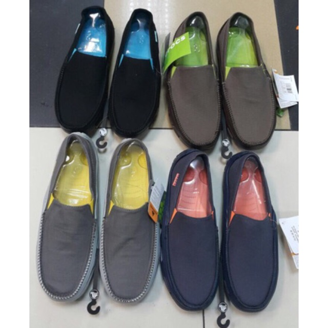 Sepatu crocs tideline sport canvas kanvas pria men man   Shopee Indonesia